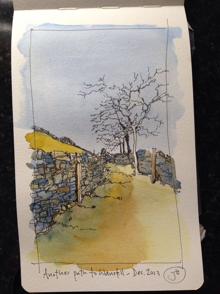 Another path to Wanstell - travel sketching