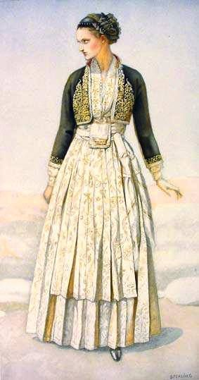 Macedonian Clothes:  Greek Peasant Woman's #Dress (#Macedonia, Verroia) northern #Greece