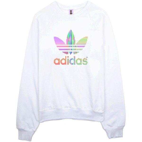 Clothing ($55) ❤ liked on Polyvore featuring tops, hoodies, sweatshirts, sweaters, shirts, sweatshirt, goth top, adidas tops, adidas sweatshirt and sweatshirts hoodies