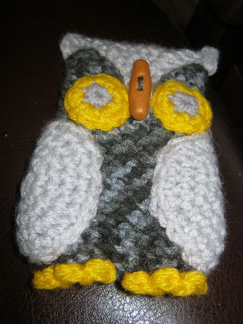 Ravelry: CandidQuilts' Owl Cell Phone Cozy