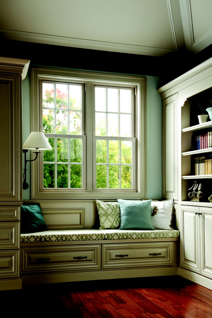 Bay window seat books - I Dream Of A Window Seat Next To Book Shelves Like This