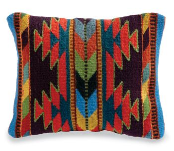 Native Geometric Arrows Pillow