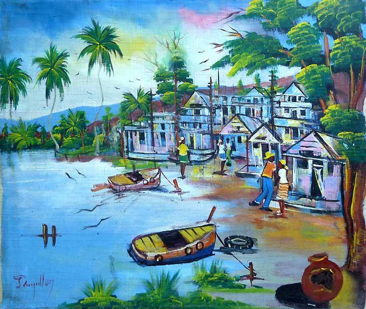 36 best Caribbean & Haitian Art - Canvas Paintings images ...