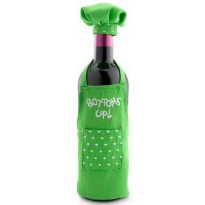 Wine Bottle Apron Bottoms Decoration
