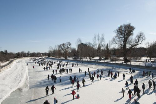 Skating the Rideau Canal - Ottawa, Ontario, Canada. #ExploreCanada