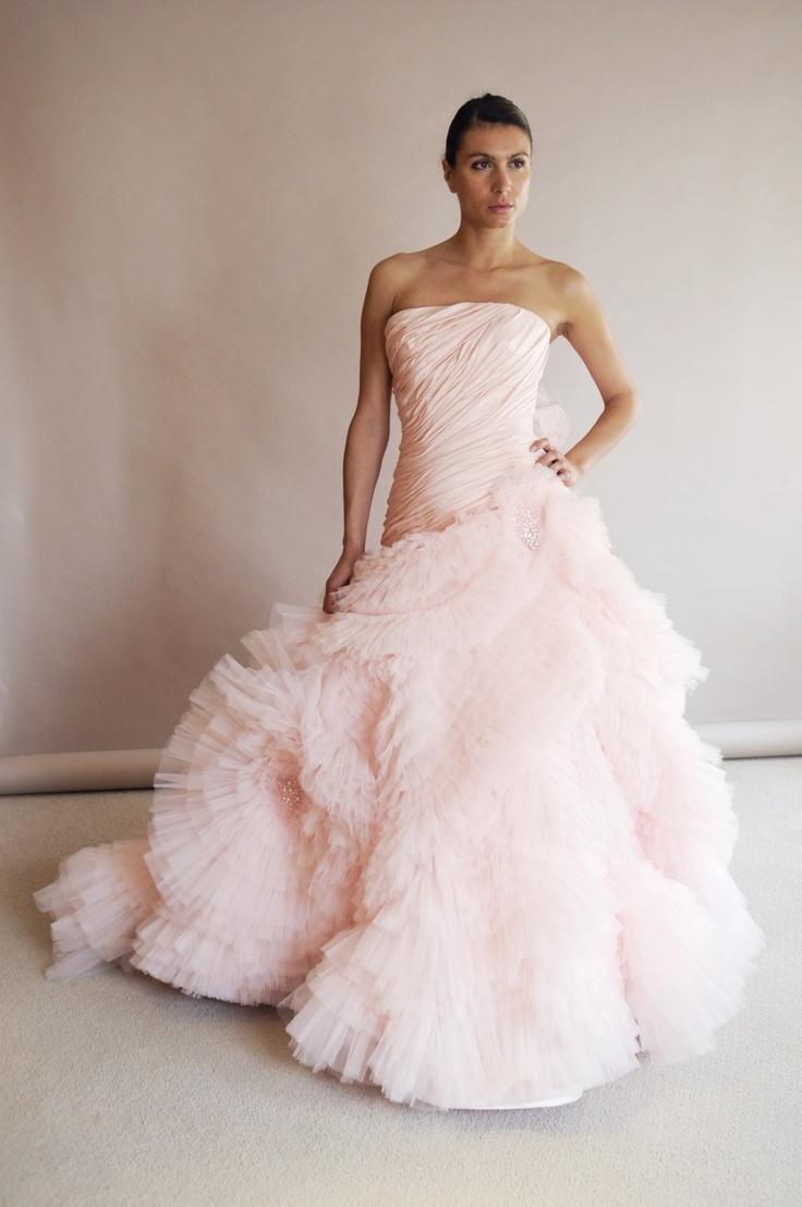 Fluffy Cotton Candy Dress By Edgardo Bonilla