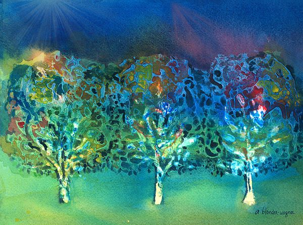 Jeweled Trees by Arline Wagner
