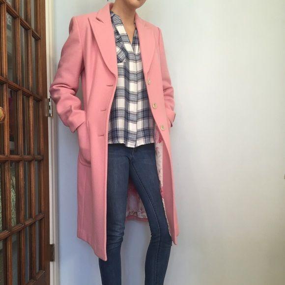 Banana Republic Light Pink Overcoat Fully Lined SHELL: 80% Wool & 20% Nylon LINING: 100% Polyester Banana Republic Jackets & Coats