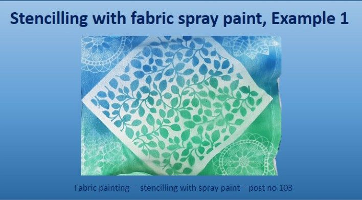 fabric painting - spray-stencilling 1 - featured image post 103