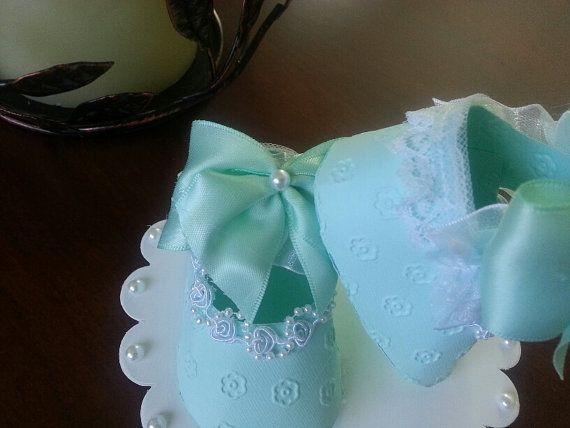 Menta calzado Topper /Baby ducha torta de la torta / pastel de