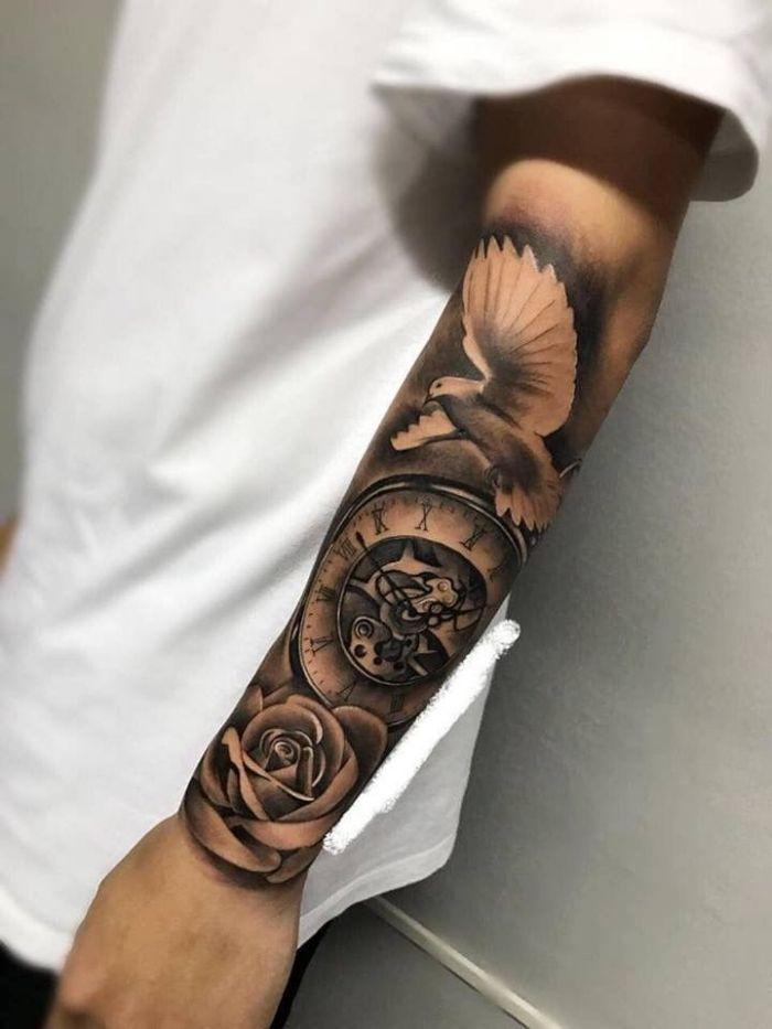 Männer arm motive für tattoo SKIN STORIES