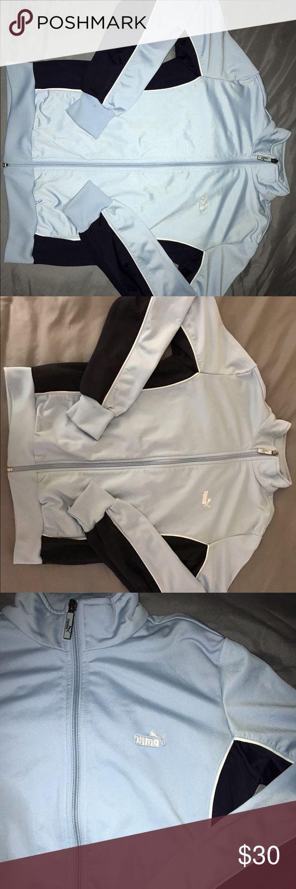 Puma Sports Jacket Light blue original puma sports jacket. like new. Worn only twice inside the house. Puma Jackets & Coats