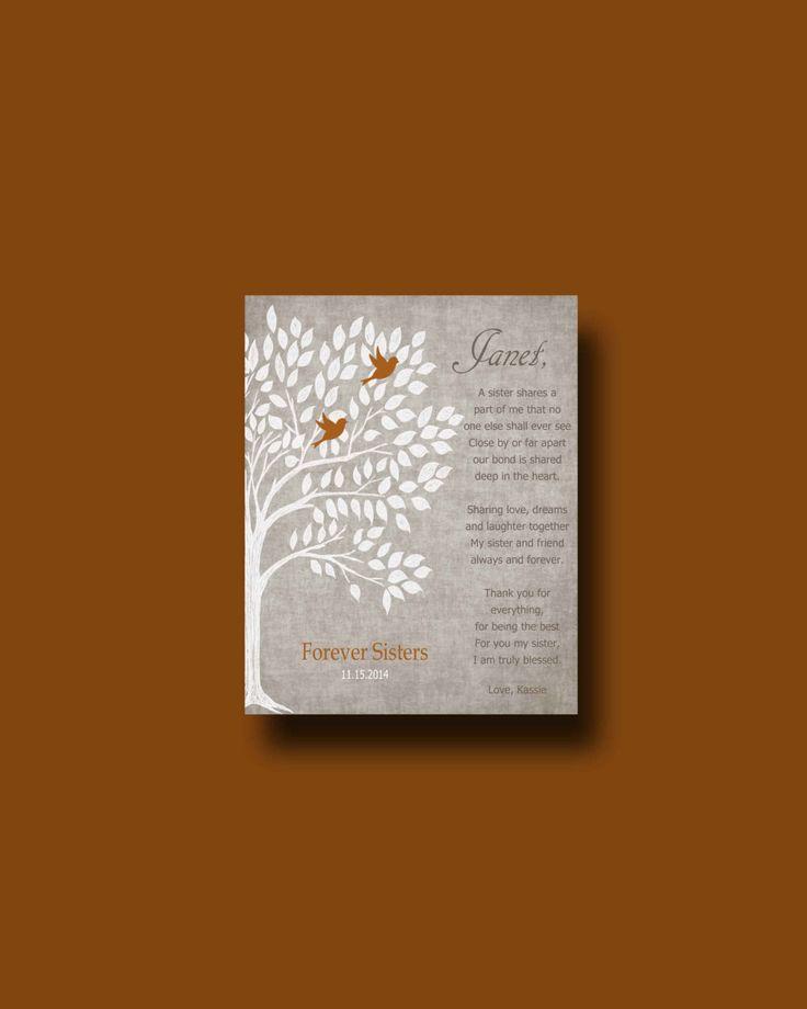 Wedding Gift For Sister Pinterest : gift for your Sister - Wedding Gift for Sister, Gift for Sister ...
