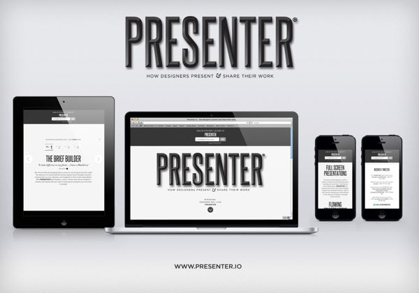 Launch website for PRESENTER - presenter.io by PRESENTER , via Behance