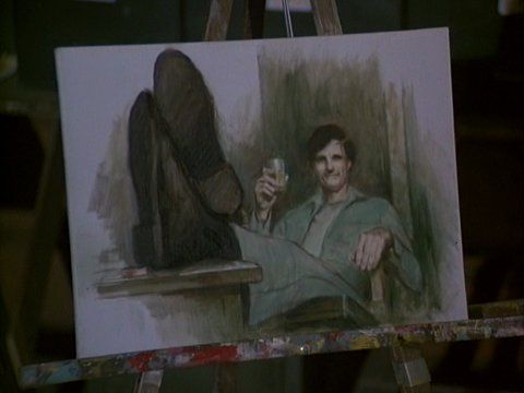 Colonel Potter's Painting of Hawkeye from Hawkeye Get Your Gun