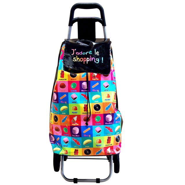 Chariot de shopping Haribo, cliquez sur l'image pour shopper #bazarchic #haribo #chariot #shopping #courses #marché #bonbons #candies