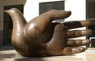 Bronze Street Sculpture in Malaga, Jose Seguira