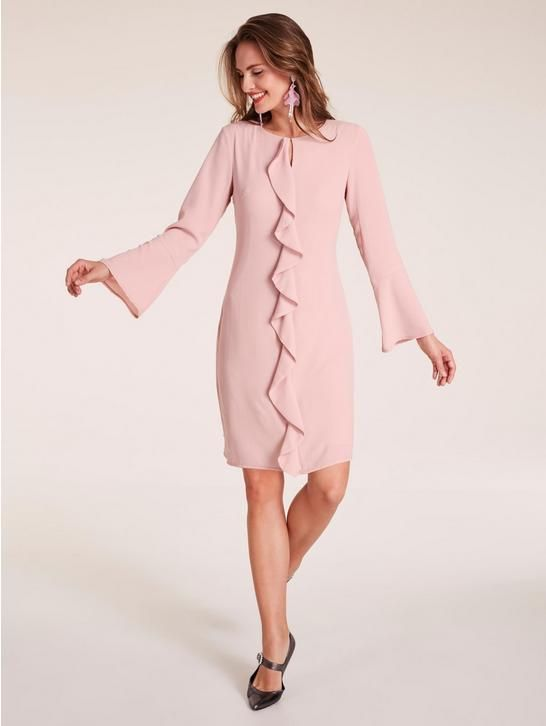Kleid mit Volants in 2018   W38-2018-Bekleidung   Pinterest   Rose and  Shopping abfec97c09
