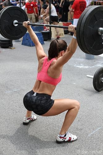 If you don't know the Overhead squat you should work to learn it! Great for improving flexibility, mobility, stability, endurance, and strength...
