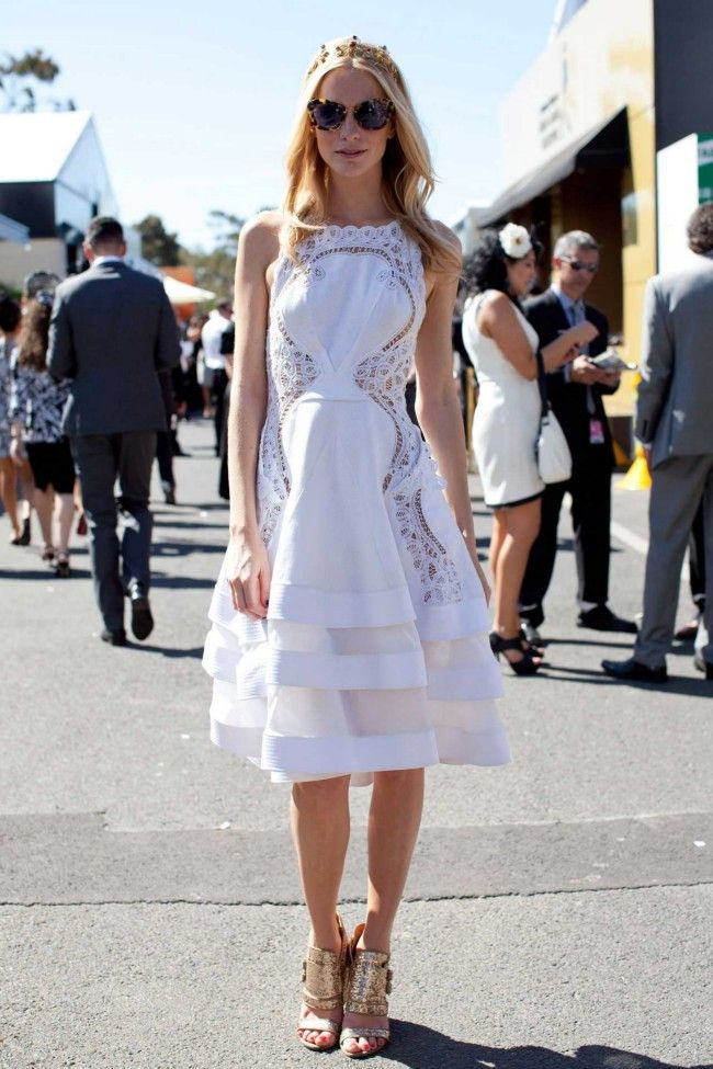 Poppy Delevingne in J'Aton Couture.What they wore: Derby Day 2013