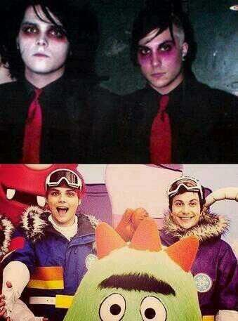 This is the picture I'm gonna show someone if they ask who Frank Iero or Gerard Way are