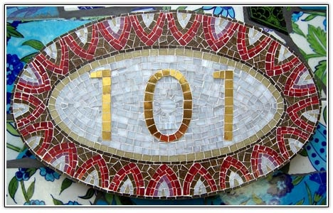 House Numbers mosaic
