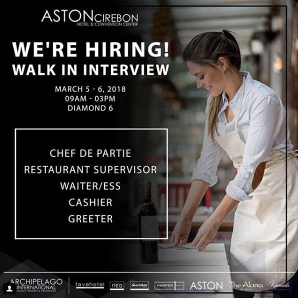 Aston Cirebon Jobs News March 2018 - Hotelier Indonesia Jobs