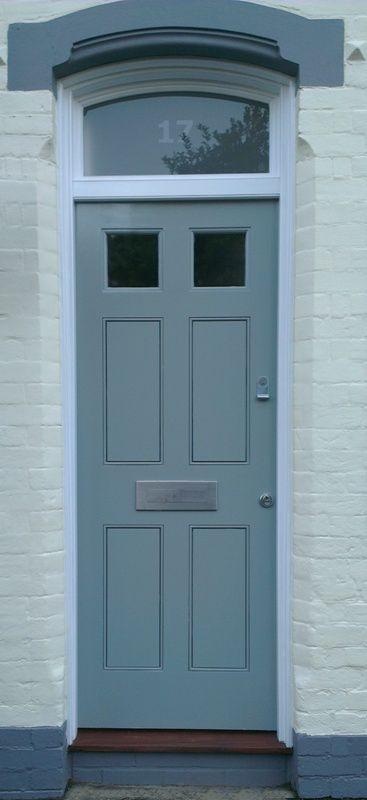 6 Panel Georgian Door with etched fanlight  www.thehampshiredoorcompany.co.uk