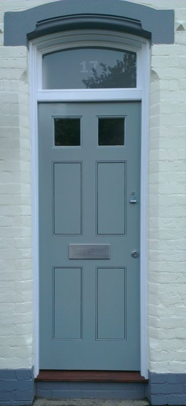 6 Panel Georgian Door with etched fanlight  www.thehampshiredoorcompany.co.uk