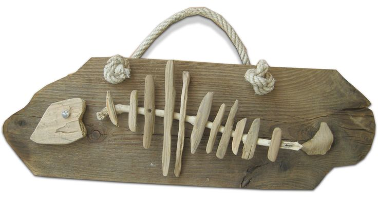 Driftwood fish bone