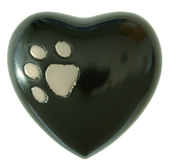 Urna funeraria de cenizas para mascotas Modelo Oti Black.