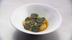 Lamb Tortellini with Butter Sauce and Yoghurt Dressing