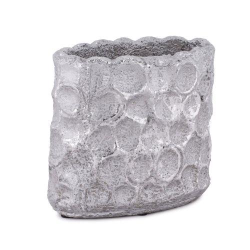 Decoratiuni - Ghiveci ceramica decorativ, gri metalizat la numai 12.00 RON