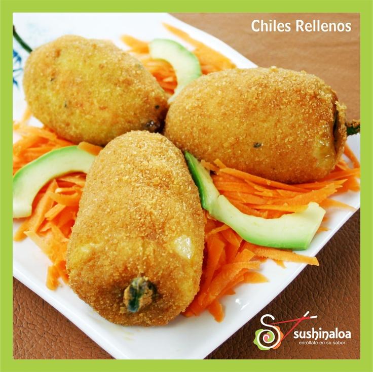 """[Spanish ]CHILES RELLENOS (3) - $6.00 - Chile Caribe relleno de Queso Crema con Camarón / [English] """"CHILES RELLENOS"""" - Caribe Chilli stuffed with Cream Cheese and Shrimp."""