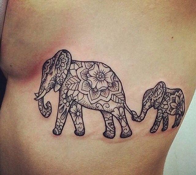 Family tattoo// elephant tattoo- Pinterest name~ ashleighpaddy