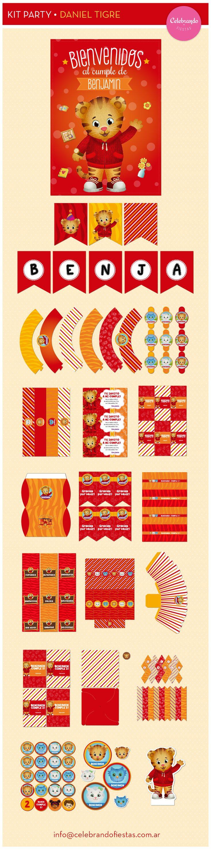 Kit imprimible Daniel el Tigre / Daniel Tiger's Neighborhood - Celebrando Fiestas