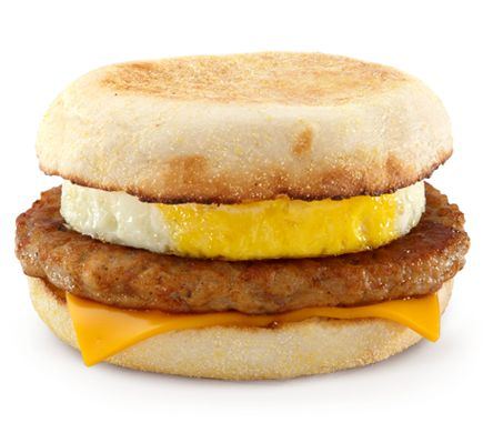 I don't eat here often and I don't care what anyone says.... this is very delicious!! Sausage McMuffin with Egg