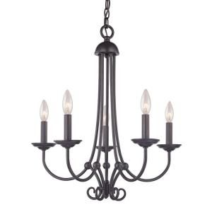 Titan Lighting, Williamsport 5-Light Oil Rubbed Bronze Ceiling Chandelier, TN-50096 at The Home Depot - Mobile