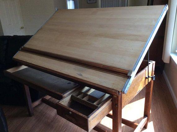 vintage hamilton economy drafting table tables  drafting
