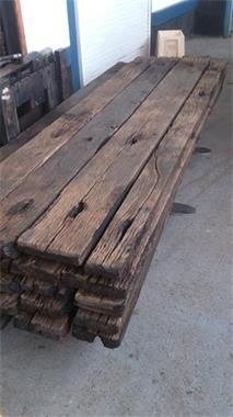 Grote foto echte oude eiken wagondelen 260 x 18 x 6 5 cm doe het zelf en verbouw hout en planken