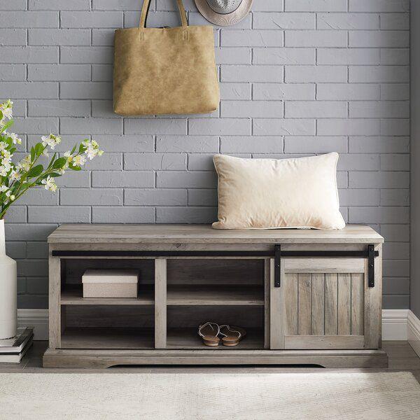 Shreffler Shoe Storage Bench In 2020 Bench With Shoe Storage Storage Bench Cheap Apartment Decorating