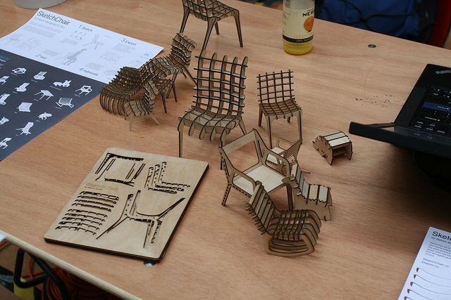 laser cut furniture | BMMF: Laser-Cut Furniture | Flickr - Photo Sharing!