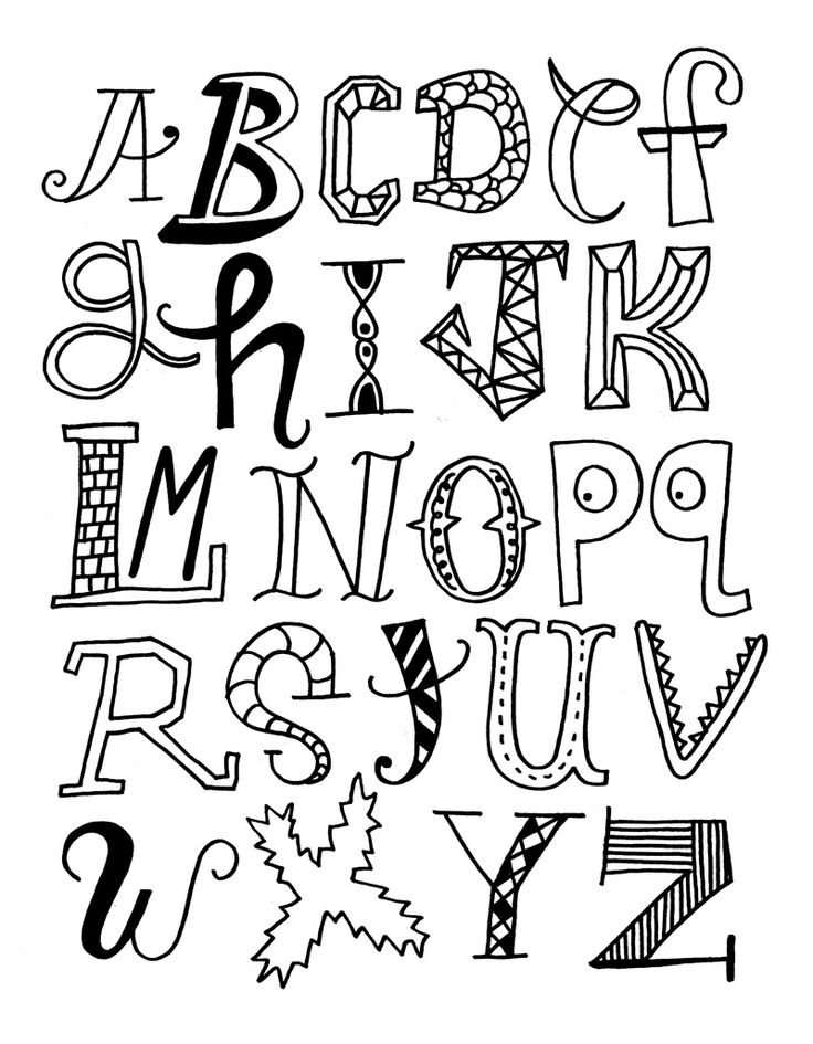 Cool Ways to Draw the Letters of Alphabet | Alphabet Letters Coloring Pages