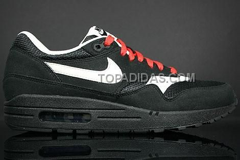 http://www.topadidas.com/nike-air-max-1-essential-black-white-red-mens-trainers.html Only$51.00 #NIKE AIR MAX 1 ESSENTIAL BLACK WHITE RED MENS TRAINERS #Free #Shipping!