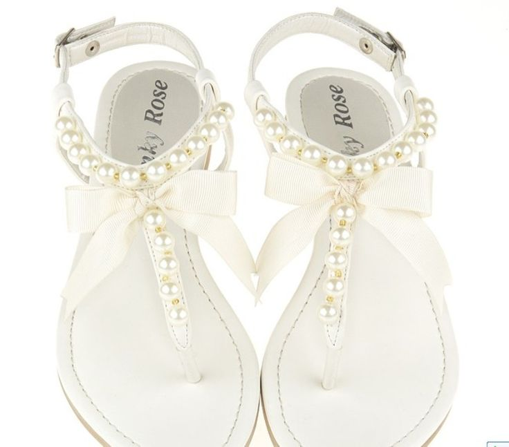 Flat Wedding Shoes White