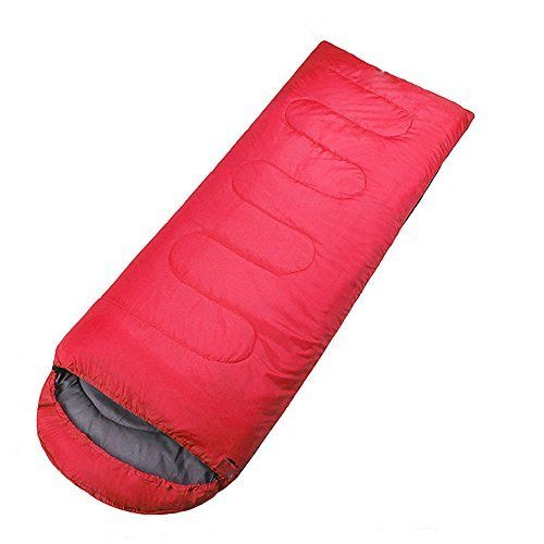 IFLYIING Outdoor Ultra-Compactable Lightweight Sleeping Bag,Camping Envelope Sleeping Bags with Compression Bag (Red). High quality, durable, easy to use. Provides you a warm and cosy sleep in the cold night when outside;. Comfortable temperature scale: 15℃-5℃,Suitable for spring, summer and fall;. Super lightweight, comfortable and space-saving when folded; zipper opening on one full side and pull part in both inner and outer side;. For the environment: mountain climbing, hiking, camping...