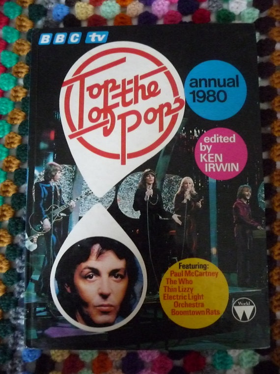 BBC TV Top of the Pops Annual 1980 by Retroporium on Etsy, £4.00