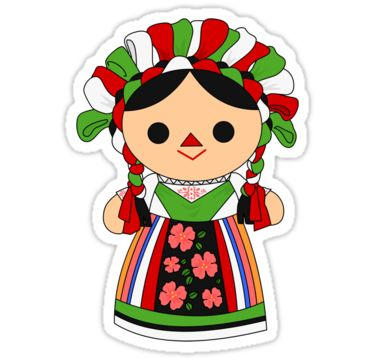 Maria 5 (Mexican Doll) | Sticker