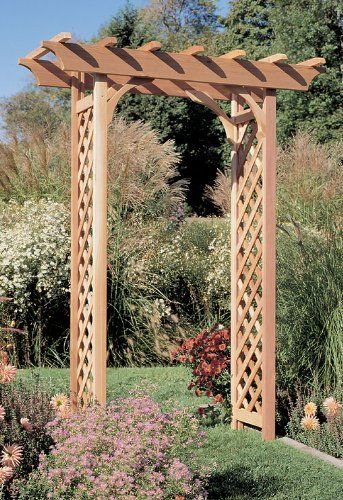 Rustic Natural Furniture Cedar Pergola Arbor by Rustic Warehouse. $299.99. Rustic Cedar Pergola Arbor Solid Cedar Construction Our sturdy Western Cedar Arbors are built to last, and can be painted, stained, or left to weather gracefully to a warm silver gray. Covered in wisteria, climbing roses, or English ivy, these freestanding structures add architectural interest to any outdoor garden or walkway. Red cedar is naturally rot and insect resistant for years of useful be...