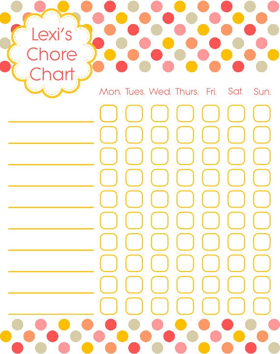 36 best Chore charts images on Pinterest Kid chores, Chore - chore chart